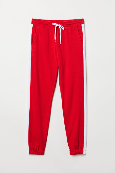 Sweatpants with side stripes - Red - Ladies | H&M CN