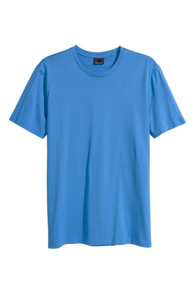 Premium cotton T-shirt - Blue -  | H&M GB