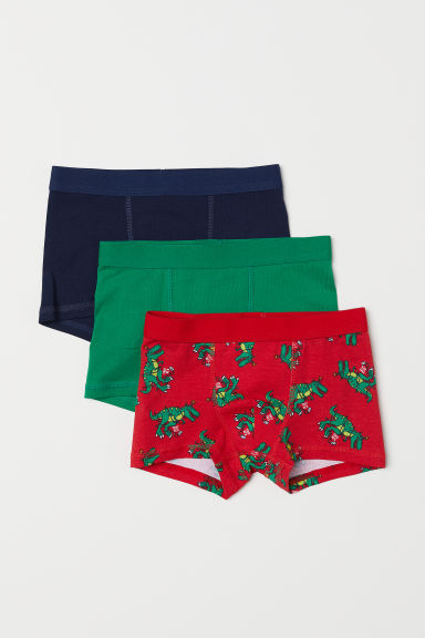 3-pack boxer shorts - Red/Dinosaurs - Kids | H&M CN