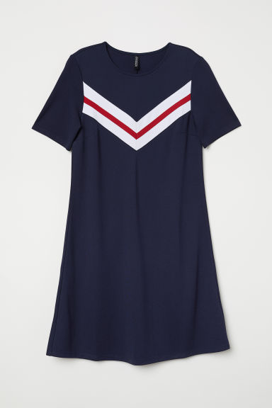 Short-sleeved dress - Dark blue -  | H&M