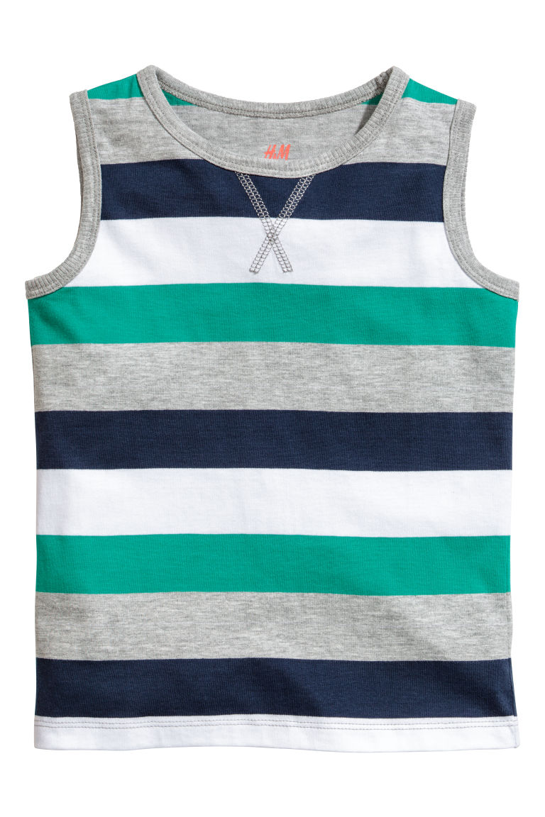2-pack tops - Grey/Striped - Kids | H&M