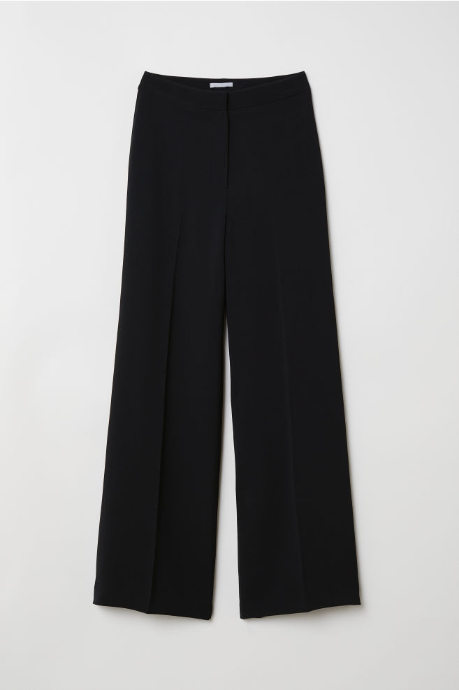 5b556e1eb9828e ... Wide-leg Pants - Black - Ladies