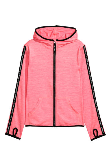 Sports jacket - Neon pink marl - Kids | H&M CN