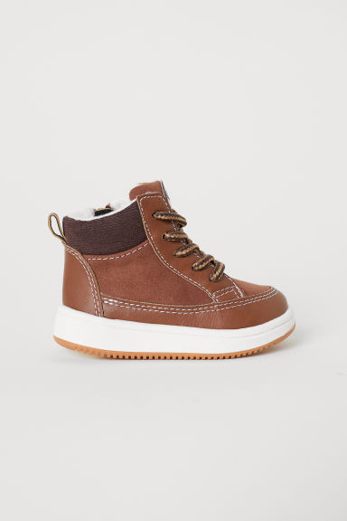 Pile-lined hi-tops - Brown -  | H&M