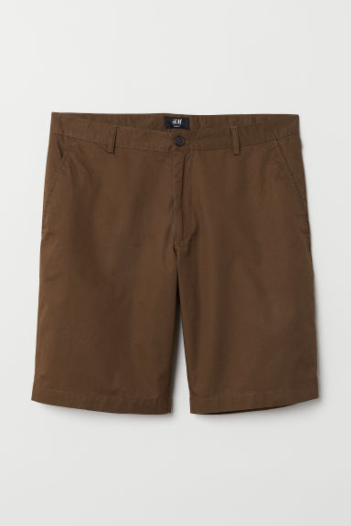 Short chino shorts - Dark brown - Men | H&M CN