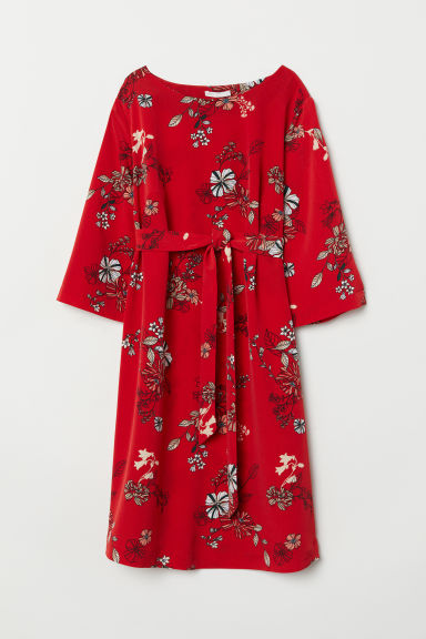 MAMA Patterned dress - Red/Patterned - Ladies | H&M CN