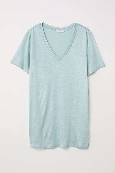 MAMA Viscose T-shirt - Mint green -  | H&M