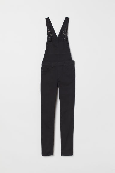 Denim dungarees - Black -  | H&M CN