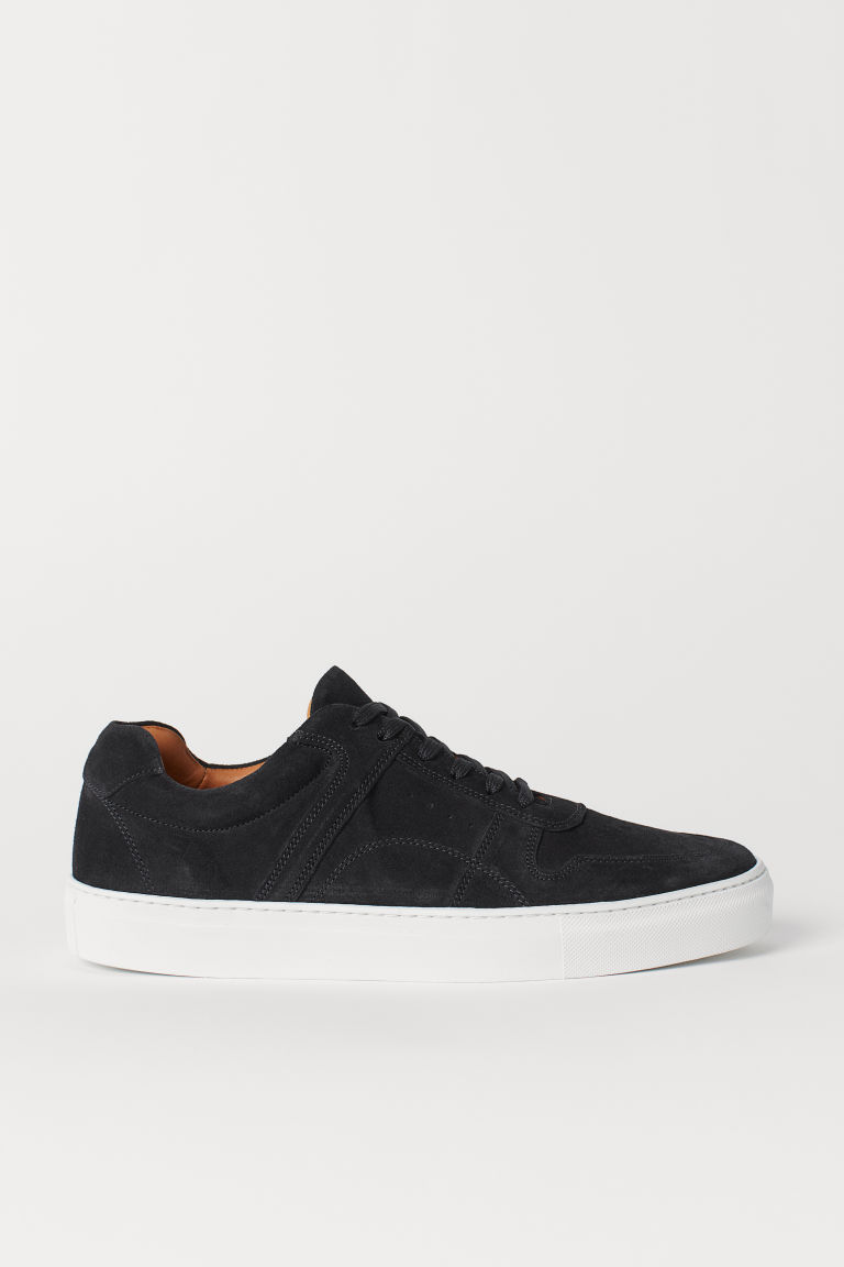 Suede trainers - Dark blue - Men | H&M