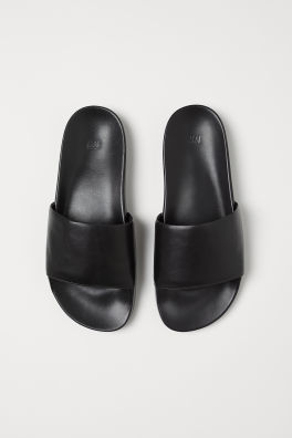 8737389b3fba Leather sandals. £24.99. New Arrival. Black · Leather pool shoes