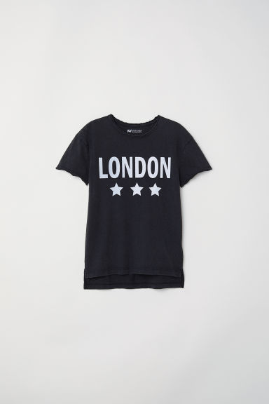 Printed T-shirt - Black/London - Kids | H&M CN