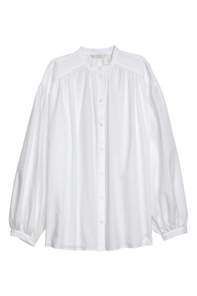 Wide shirt - White - Ladies | H&M