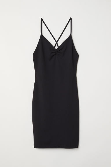 Short dress - Black - Ladies | H&M CN