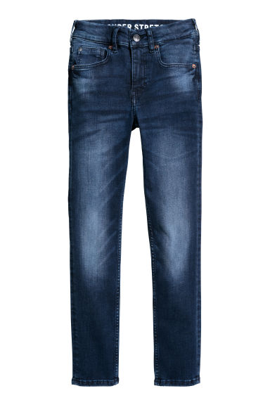 Superstretch Skinny Fit Jeans - 深牛仔蓝 - Kids | H&M CN