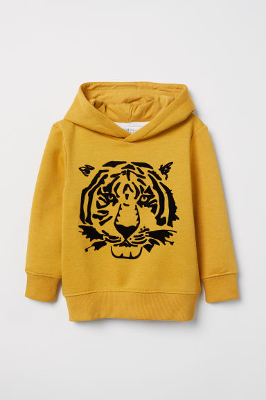 Hooded top - Yellow/Tiger - Kids | H&M