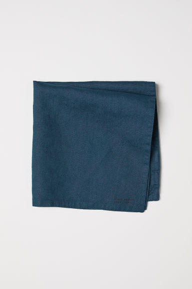 Washed linen napkin - Dark petrol - Home All | H&M CN