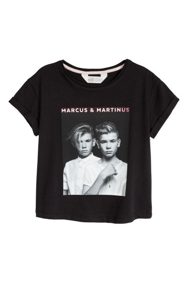 Printed T-shirt - Black/Marcus & Martinus -  | H&M