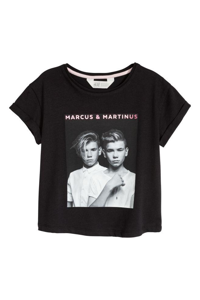 d105b990d5f Printed T-shirt - Black/Marcus & Martinus - Kids | H&M 1