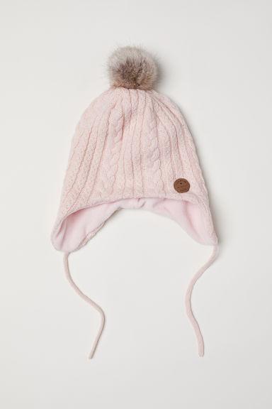 Cable-knit hat - Powder pink -  | H&M CN