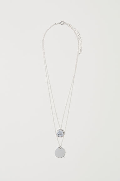 Two-strand necklace - Silver-coloured - Ladies | H&M CN