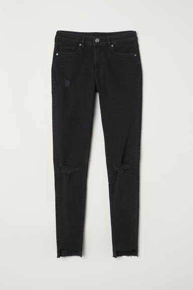 Skinny Regular Ankle Jeans - Zwart - DAMES | H&M BE