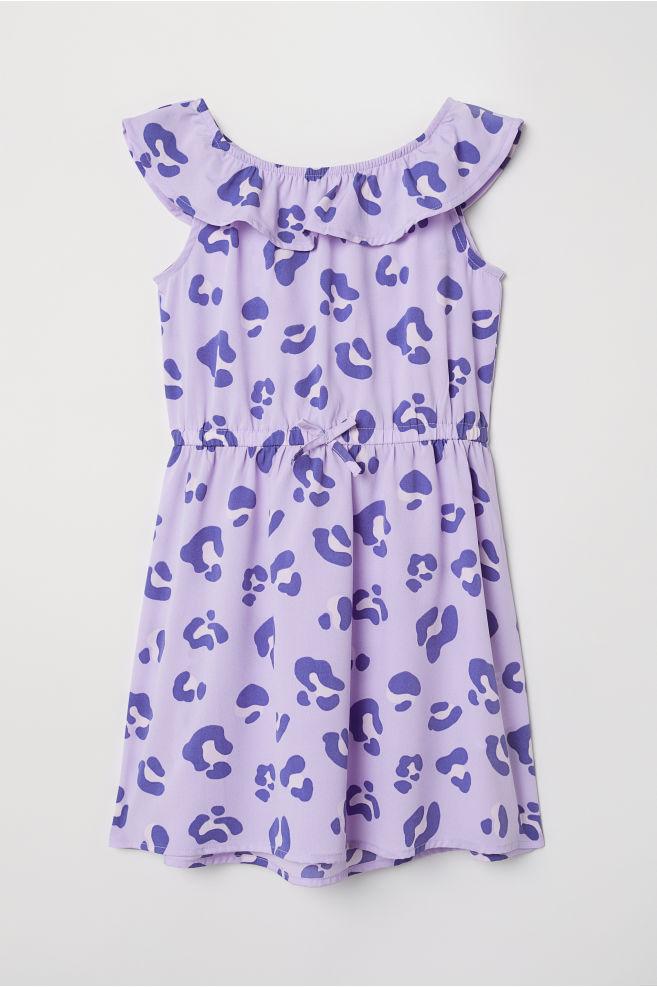 7ee0fa8b7b Mintás ruha - Lila/leopárdmintás - GYEREK | H&M ...