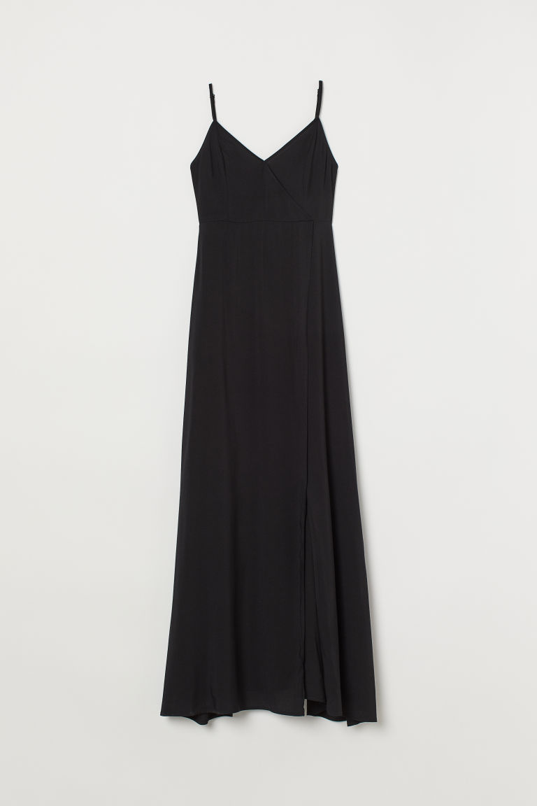 V-neck maxi dress - Black -  | H&M