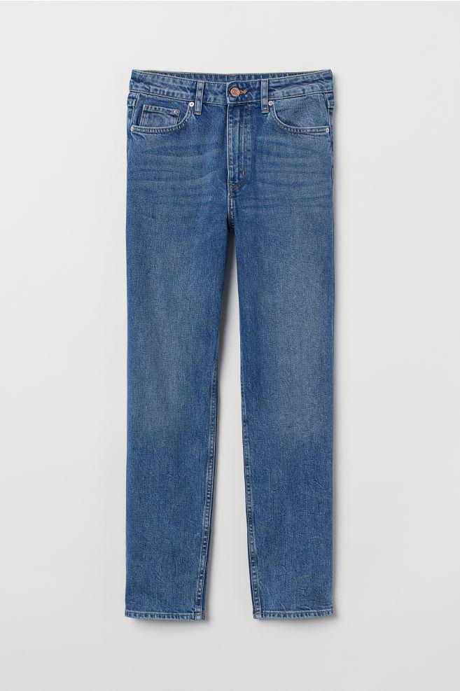 3a051b52 ... Vintage Slim High Ankle Jeans - Denimblå - DAME | H&M ...