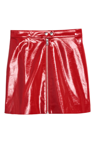 Patent skirt - Red - Ladies | H&M CN
