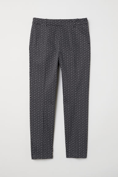 Cigarette trousers - Black/White patterned -  | H&M GB