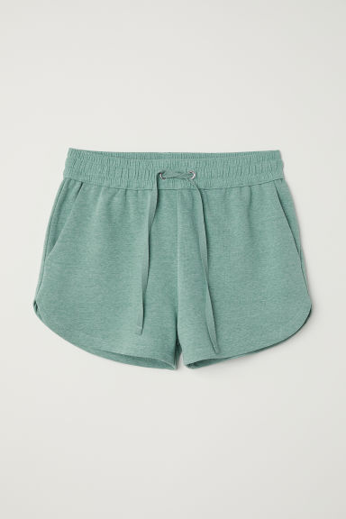 Sweatshirt shorts - Green marl -  | H&M CN