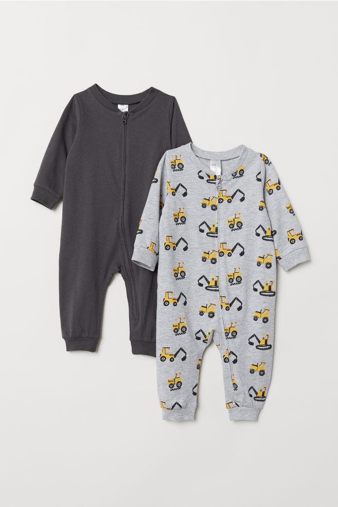 37e07f295923 2-pack jersey pyjamas - Grey Diggers - Kids