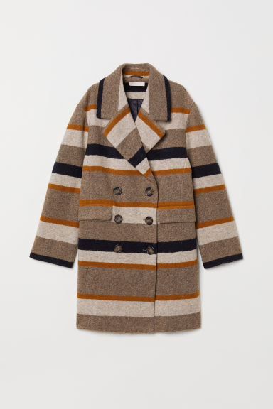 Wool-blend Coat - Beige/striped - Ladies | H&M US