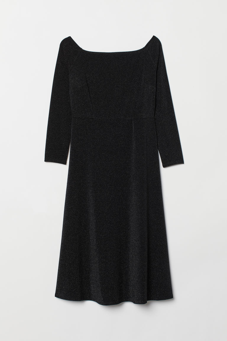 H&M+ Off-the-shoulder dress - Black - Ladies | H&M CN