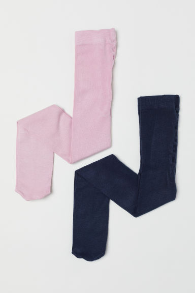 2-pack tights - Pink/Dark blue -  | H&M CN