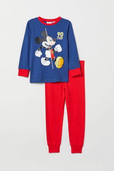 Jersey pyjamas - Dark blue/Mickey Mouse - Kids | H&M CN