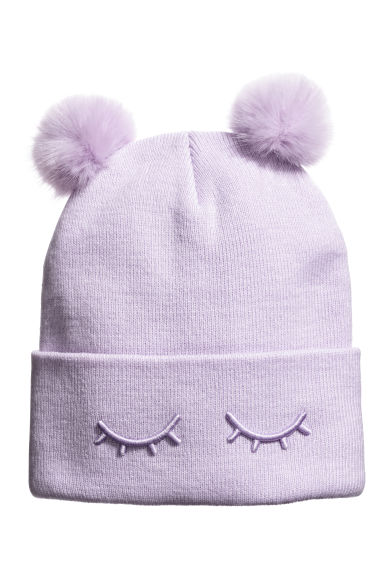 Fine-knit hat - Light purple -  | H&M IE