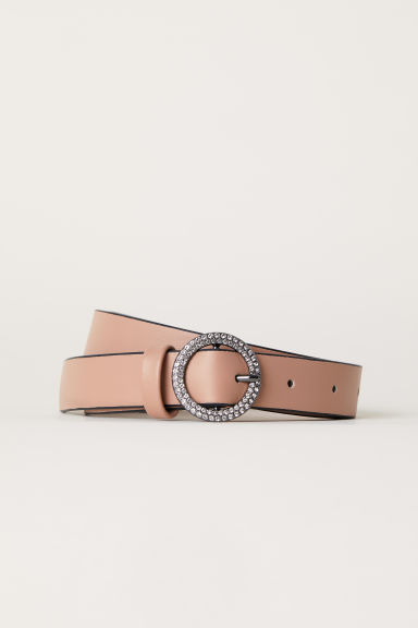 Belt with sparkly-stone buckle - Beige -  | H&M CN