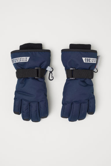 Ski gloves - Dark blue -  | H&M