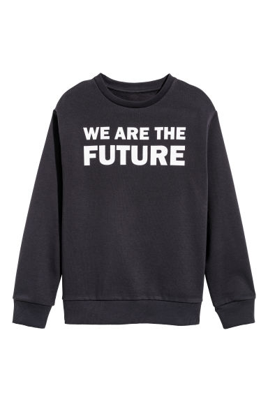 Printed sweatshirt - Dark blue -  | H&M