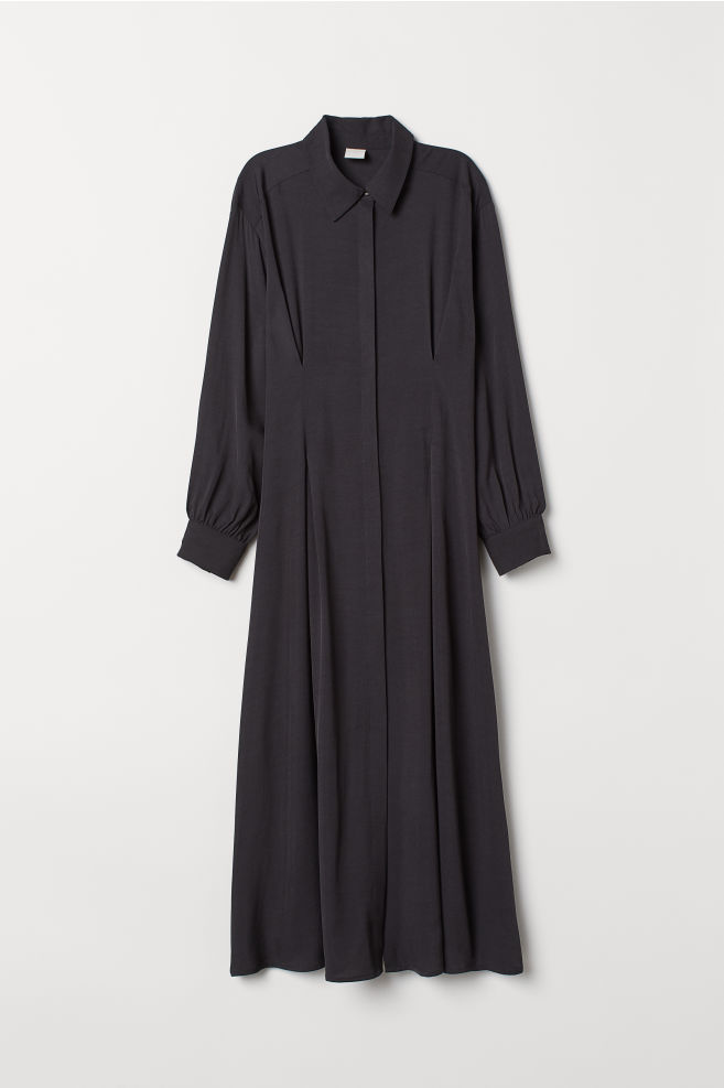 16c07631d Calf-length Shirt Dress - Dark blue - Ladies   H&M ...
