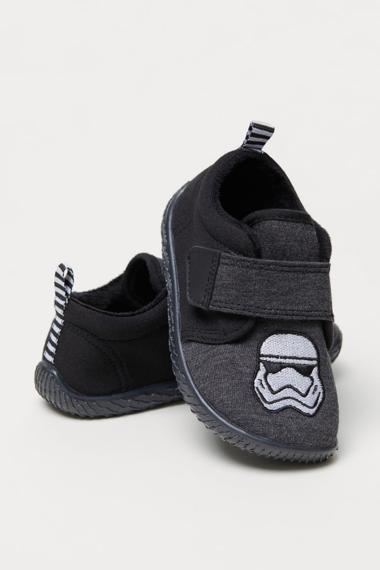 Jersey indoor shoes - Dark grey/Star Wars - Kids | H&M CN