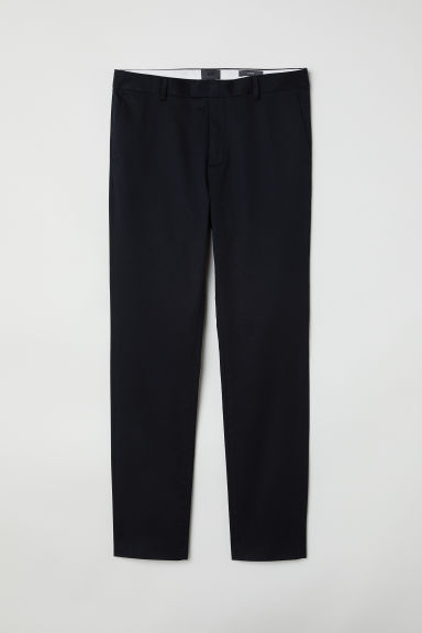 Chinos in cotone Slim Fit - Nero -  | H&M CH