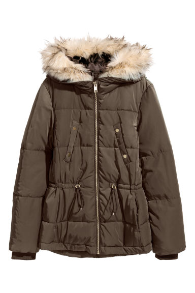 Padded jacket - Brown -  | H&M CN