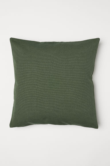 Cotton Canvas Cushion Cover - Dark green - Home All | H&M US