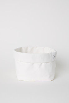 Canvas storage basket