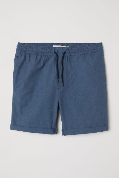 Knee-length cotton shorts - Dark blue - Men | H&M