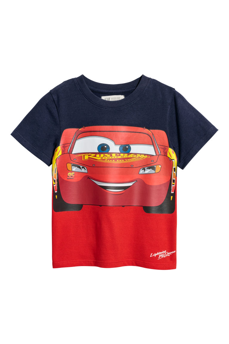 T-shirt con stampa - Blu scuro/automobili - BAMBINO | H&M IT