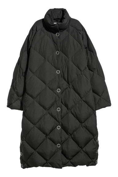 Long down jacket - Black -  | H&M