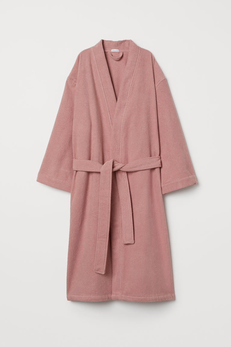Terry dressing gown - Old rose - Home All | H&M CN
